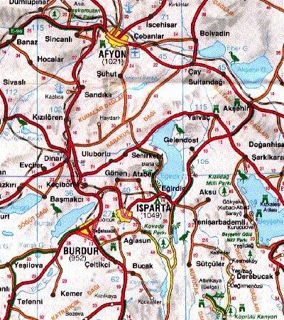 afyonkarahisar isparta haritası ile ilgili görsel sonucu